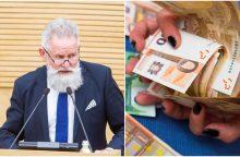 A. Sysas nepatenkintas darbo grupės siūlymais dėl algų viešajame sektoriuje