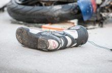 Avarija Vilniaus rajone: į ligoninę be sąmonės išvežtas motociklininkas
