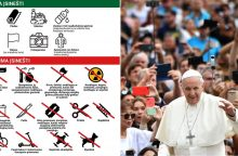Verta žinoti: ką galima ir ką draudžiama turėti susitikime su popiežiumi