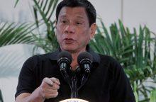 Filipinų lyderis: su džiaugsmu nužudyčiau milijonus narkomanų
