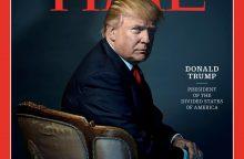 """D. Trumpas paskelbtas """"Time"""" metų žmogumi"""