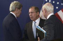 Vokietijos ministrų susitikime dėl Sirijos paliaubų nesutarta