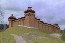 Pradedamos istorinės Vorutos pilies statybos