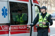 Dėl uteniškio spyrio į veidą policininkas atidūrė ligoninėje