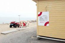 Girtuoklių paplūdimiuose mažėja