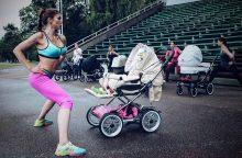 Mamytes ir mažylius kviečia į treniruotę