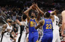 """NBA Vakarų konferencijos finalą laimėjo """"Warriors"""""""