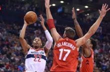 """""""Raptors"""" su J. Valančiūnu iškovojo ketvirtąją pergalę iš eilės"""