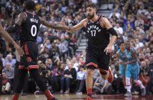 """Raptors"" su J. Valančiūnu pralaimėjo ""Pelicans"" krepšininkams"