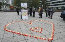 Organų donorams – šviečianti širdis