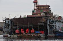 """""""Vakarų laivų remontas"""" stengiasi taisymo darbus atlikti greičiau"""