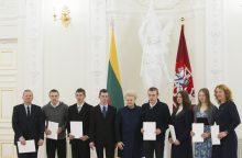 Prezidentė pagerbė specialiąją olimpiados rinktinę