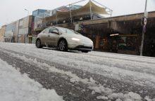 Sudėtingiausios eismo sąlygos išlieka šiaurės Lietuvoje