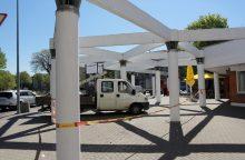 Konstrukcija uostamiestyje sulaukė remonto