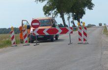 Dėl estakados statybos uždaromas Rusnės kelias