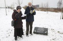 Sąjūdžio parke atkūrė atminimo lentą