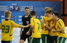 Lietuvos 18-mečiai futbolininkai po baudinių įveikė varžovus