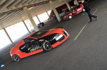 """""""Žalgirio"""" arenos aikštelėje sudaužyta """"Bugatti"""" kopija"""