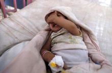 Jemene choleros atvejų skaičius viršijo pusę milijono