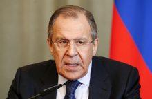 Rusijos diplomatijos vadovas rengiasi vykti vizito į Šiaurės Korėją