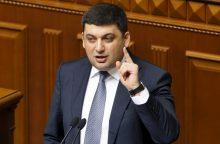 Ukrainos premjeras nurodė nutraukti ekonominį bendradarbiavimą su Rusija