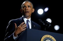B. Obama įspėja D. Trumpą neatšaukti Irano branduolinės programos sutarties