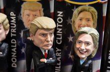 Apklausa: H. Clinton stiprina pozicijas prieš D. Trumpą