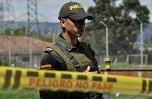 Bogotos policijos akademijoje sprogus užminuotam automobiliui žuvo penki žmonės