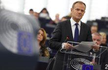 """D. Tuskas: ES tebėra atvira """"Brexit"""" atšaukimui"""