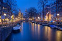 Didelė dalis Amsterdamo liko be elektros