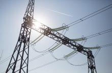 Elektros kaina buvo mažiausia nuo metų pradžios