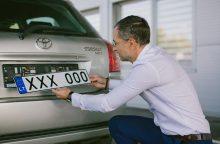 Automobilio numerio ženklus galima pasikeisti ir internetu