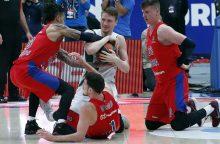 """""""Žalgiris"""" po pratęsimo nusileido be pralaimėjimų žengiančiai CSKA komandai"""
