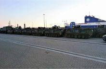 NATO  pajėgose budintys Lietuvos kariai išvyko į pratybas Danijoje