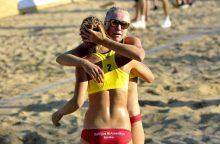 Moterų paplūdimio tinklinio turnyre Vilniuje – dramatiškos lietuvių pergalės