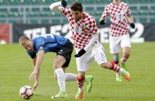 Draugiškos futbolo rungtynes: latvių krachas Tbilisyje, estai sutriuškino kroatus