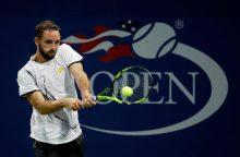 Baigėsi vyrų teniso turnyro Kinijoje vienetų varžybų ketvirtfinalio etapas