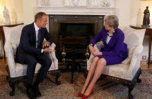 D. Tuskas ir Th. May aptarė ES reakciją į buvusio rusų šnipo apnuodijimą