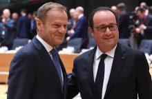 """ES lyderiai vienbalsiai pritarė """"Brexit"""" derybų gairėms"""