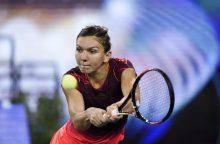Moterų teniso turnyre Kinijoje paaiškėjo vienetų varžybų pusfinalio dalyvės