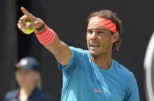 """R. Nadalis triumfavo """"Masters 1000"""" serijos teniso turnyre Romoje"""