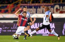 """""""Serie A"""": Milano """"Inter"""" prarado pirmuosius taškus Bolonijoje"""