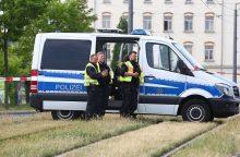 Vokietijos policija sulaikė du įtariamus ekstremistinę ataką planavusius asmenis