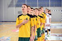 Lietuvos jaunių salės futbolo rinktinė pasirengusi debiutui Europoje