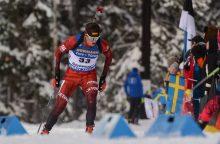 Biatlonininkas V. Strolia pasaulio taurės varžybose Norvegijoje – 66-as