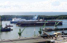 Klaipėdos uoste – išskirtinė doko plukdymo operacija