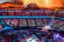 Vyksta žiemos olimpiados uždarymo ceremonija