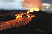 Havajų vulkanų lava pamažu didina salos plotą