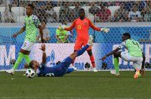 Pasaulio futbolo čempionatas: Nigerija nubaudė Islandiją