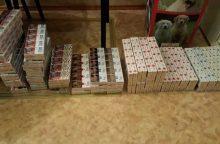 Nustatyta kontrabandines cigaretes platinusi moteris